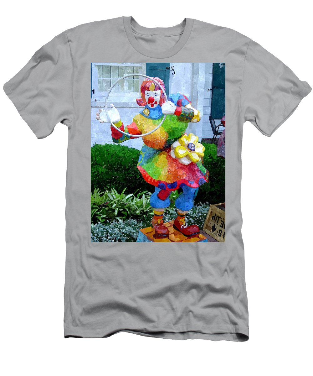 Clown Men's T-Shirt (Athletic Fit) featuring the digital art Soapbox Sbwc by Jim Brage