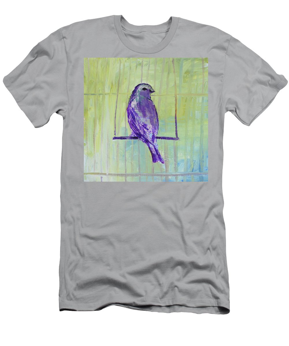 Bird Men's T-Shirt (Athletic Fit) featuring the painting Songbird by Melissa Peterson