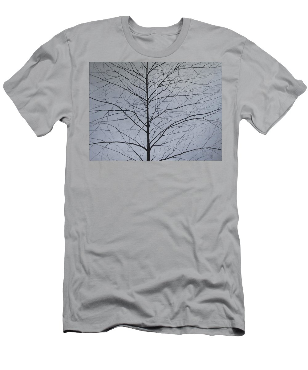 Winter Trees T-Shirt featuring the painting Sorrow by Roger Calle