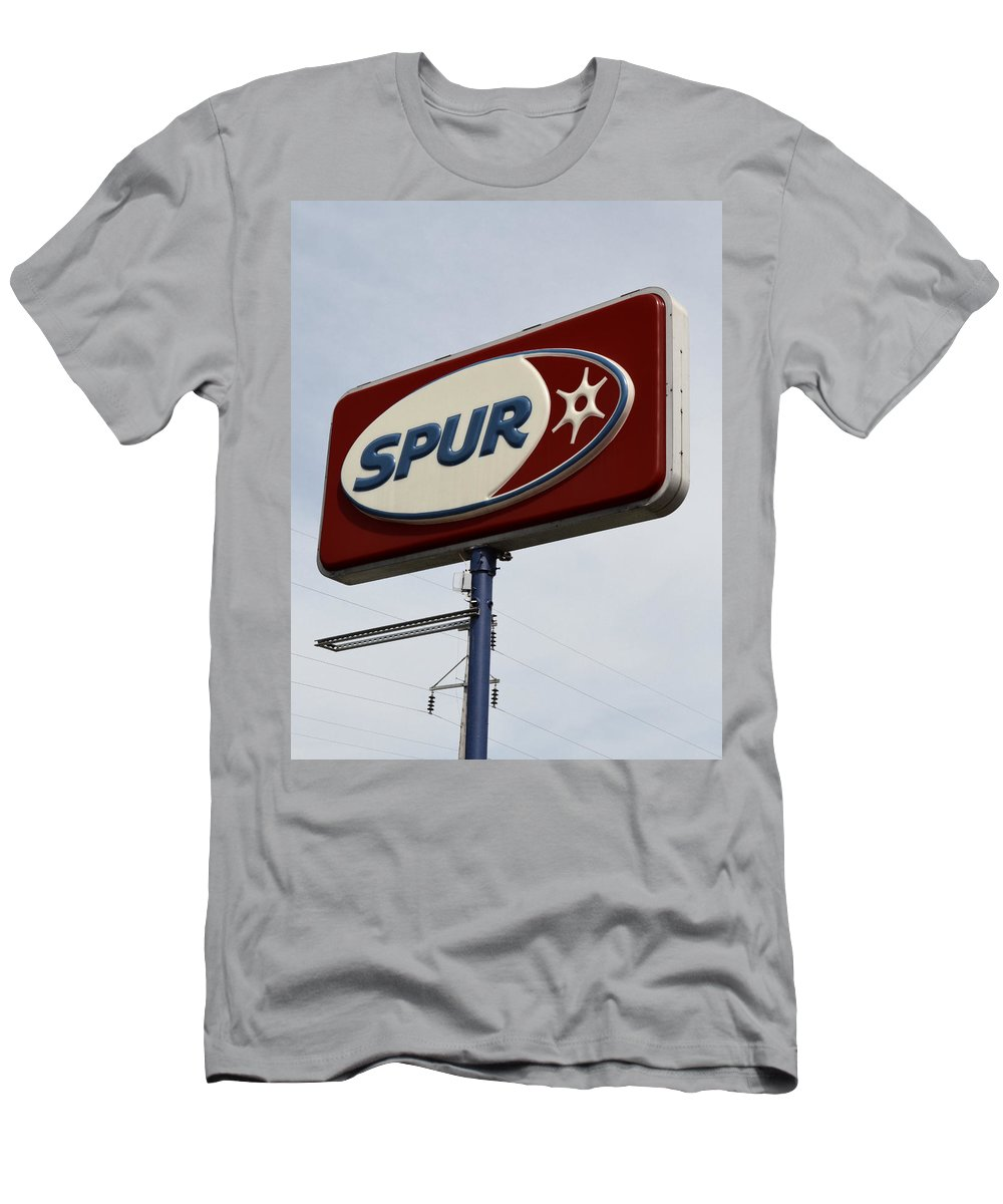 Spur Men's T-Shirt (Athletic Fit) featuring the photograph Spur Station In The U.p. by Michelle Calkins