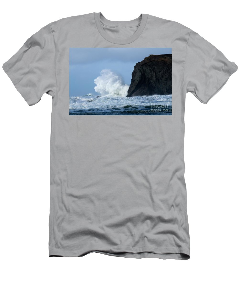 Rocks Men's T-Shirt (Athletic Fit) featuring the photograph Storm Watch by Bob Christopher