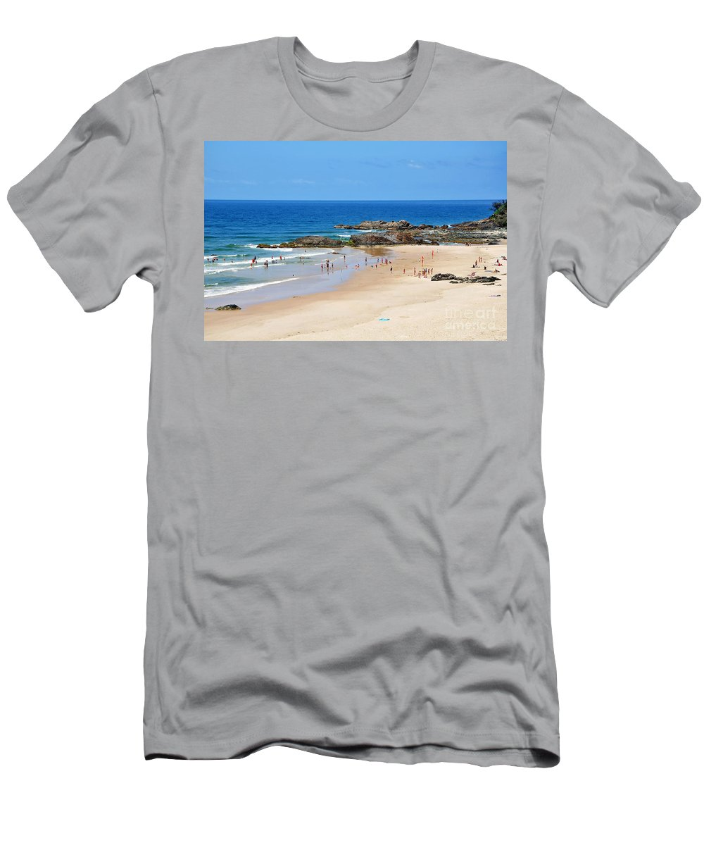 Photography Men's T-Shirt (Athletic Fit) featuring the photograph Summer At Port Macquarie by Kaye Menner