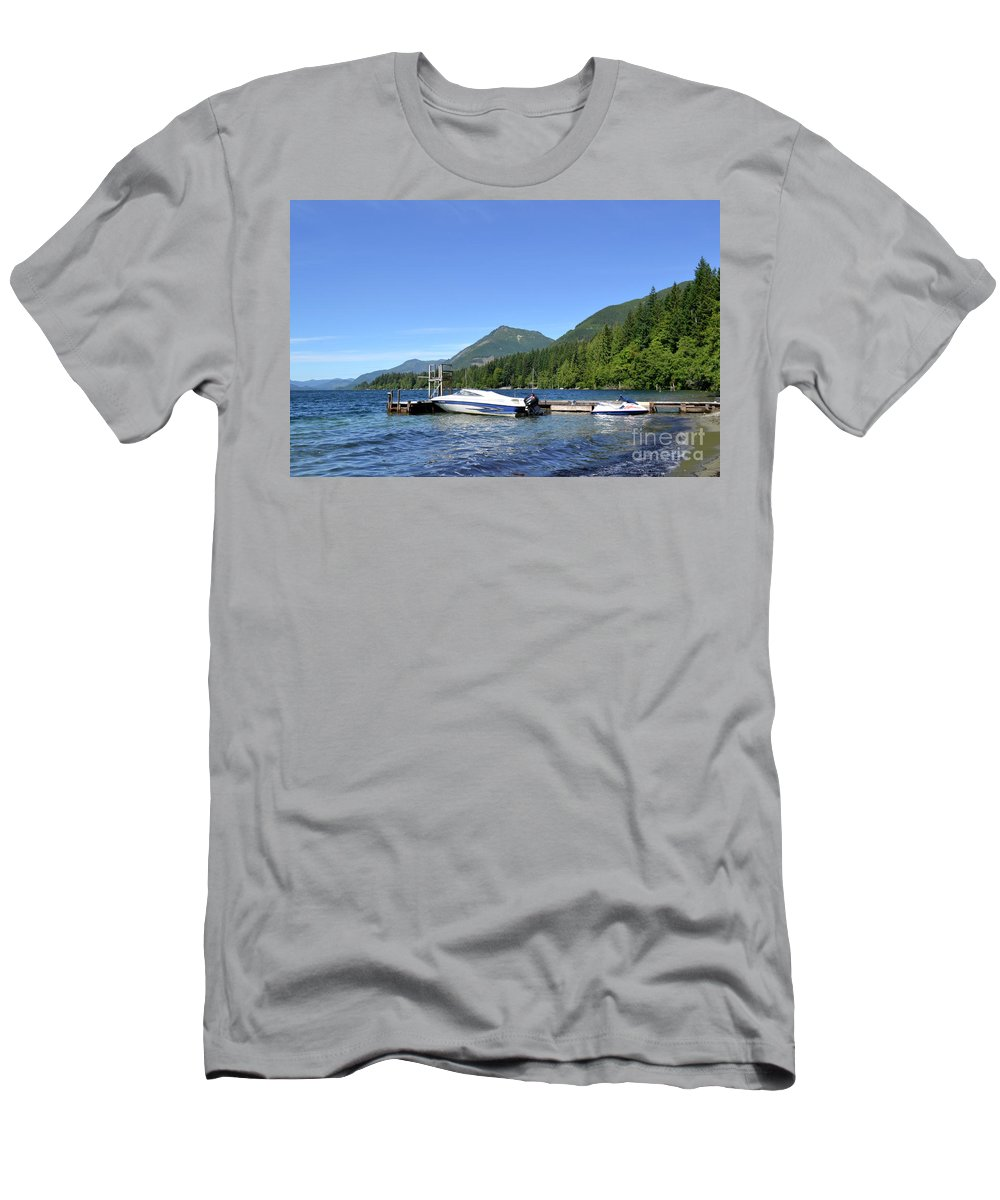 Ocean Men's T-Shirt (Athletic Fit) featuring the photograph Summer Boat by Traci Cottingham