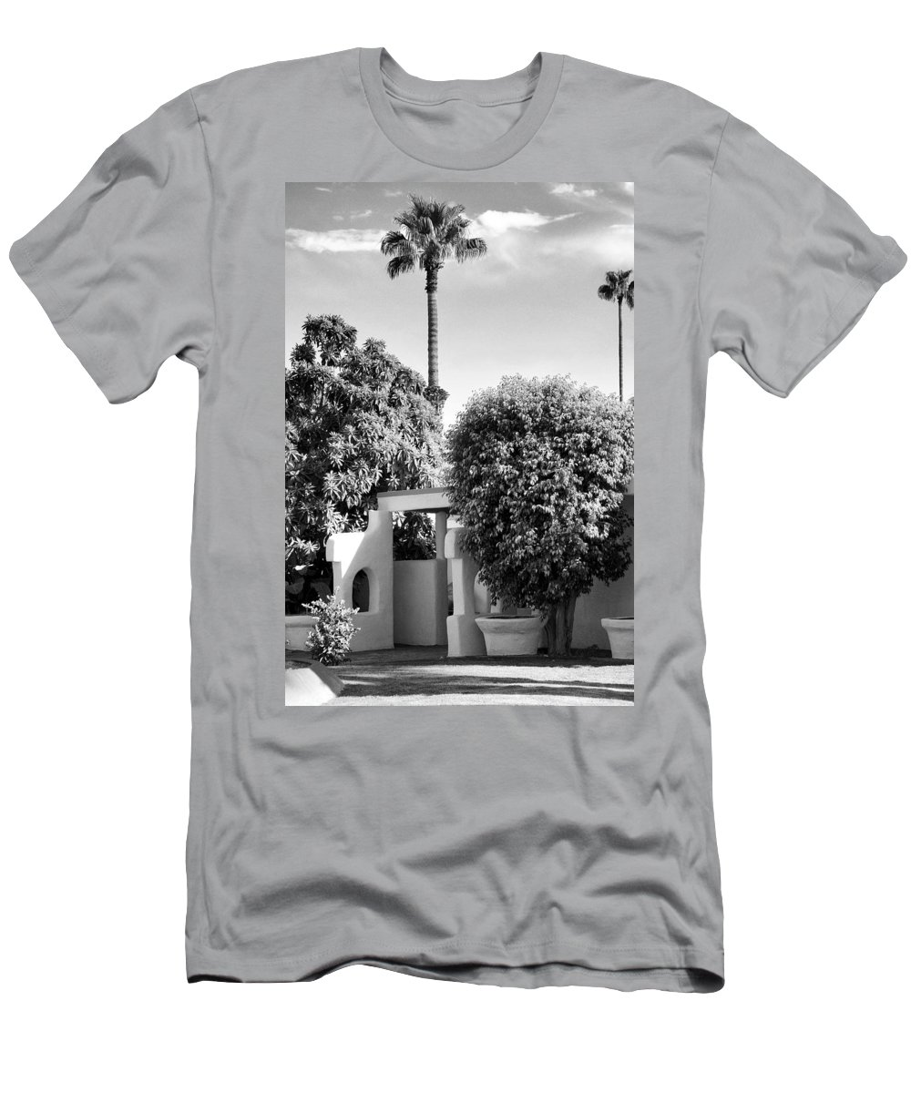 Palm Springs Men's T-Shirt (Athletic Fit) featuring the photograph Suntan Lane Palm Springs by William Dey