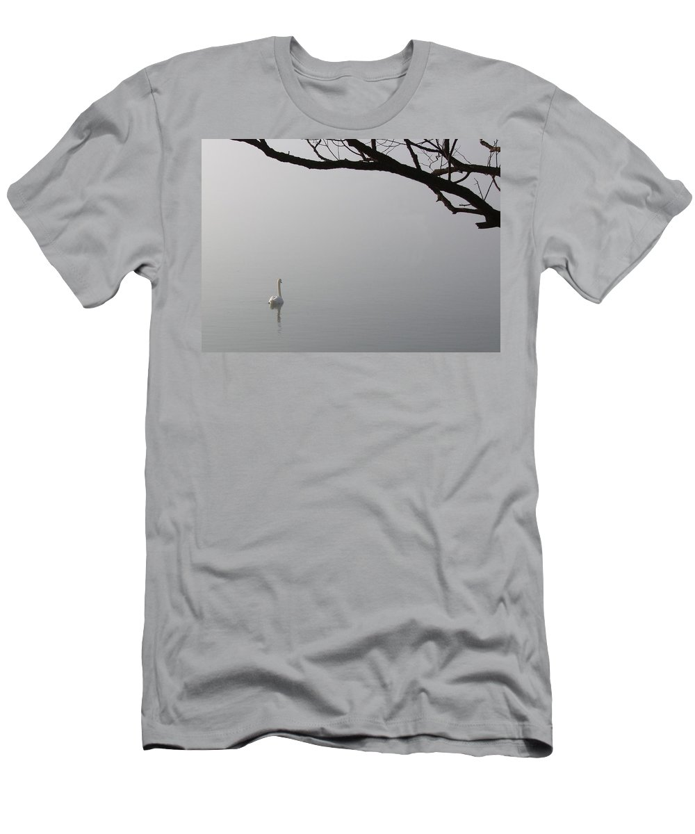 Swan Men's T-Shirt (Athletic Fit) featuring the photograph Swan Lake by Davandra Cribbie