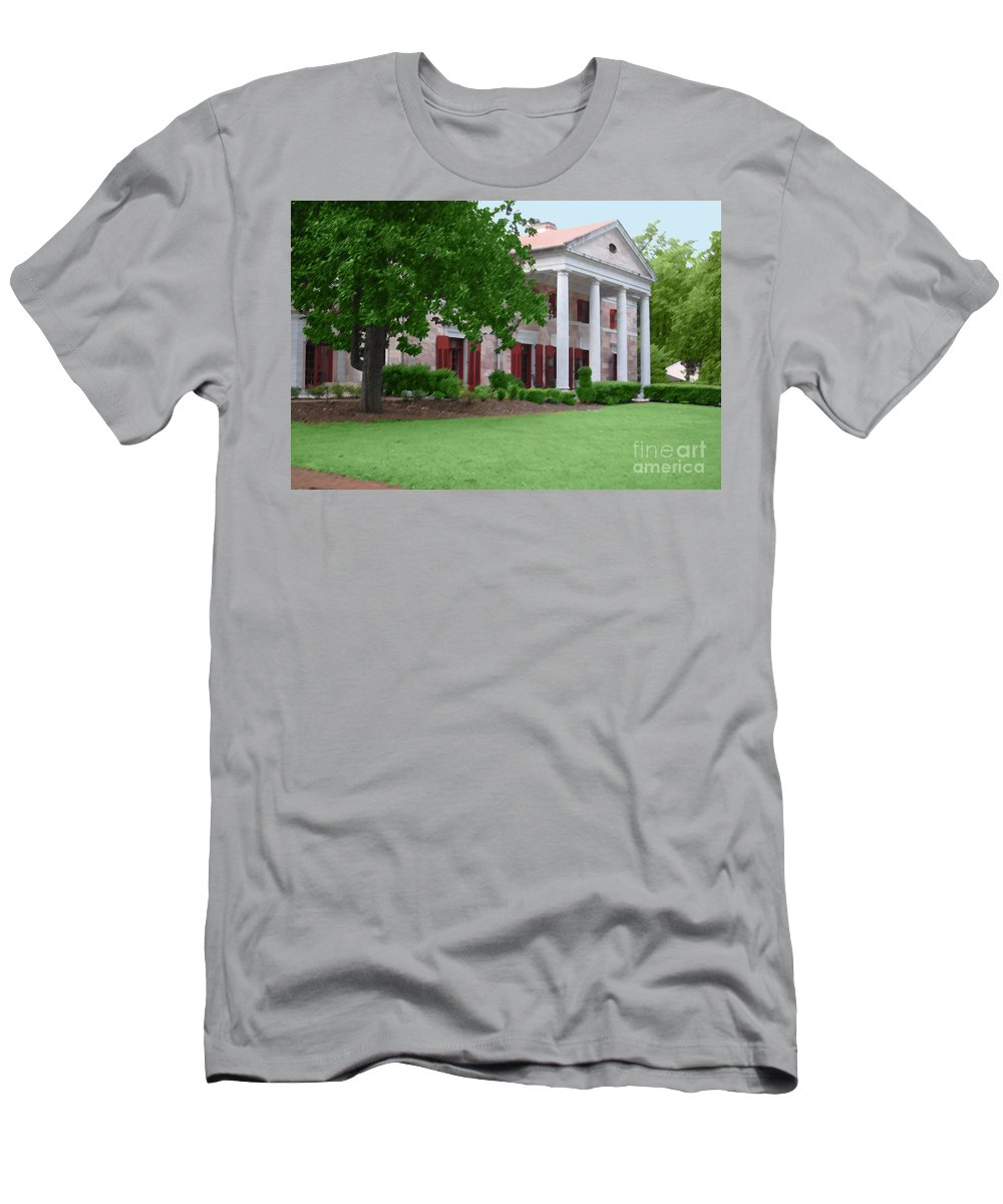 Tate Men's T-Shirt (Athletic Fit) featuring the photograph Tate Mansion As Art by Jost Houk