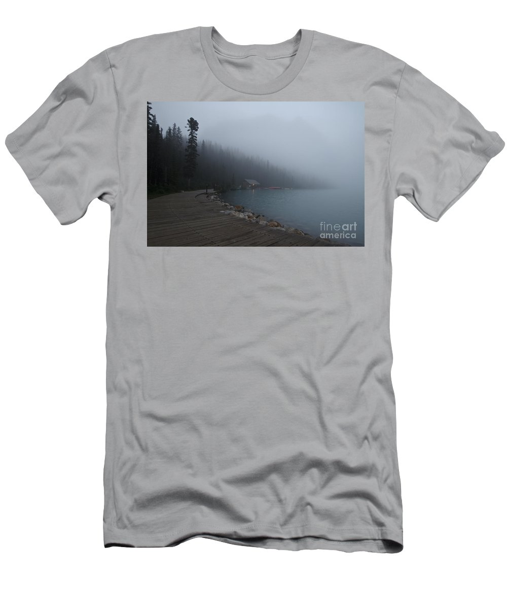 Canada Men's T-Shirt (Athletic Fit) featuring the photograph The Boathouse by Dennis Hedberg