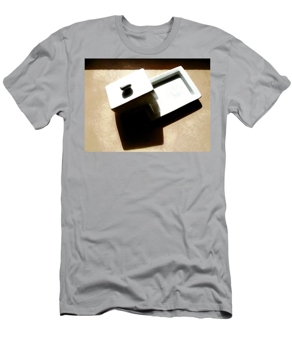 Butter Dish Men's T-Shirt (Athletic Fit) featuring the photograph The Butter Dish by Steve Taylor