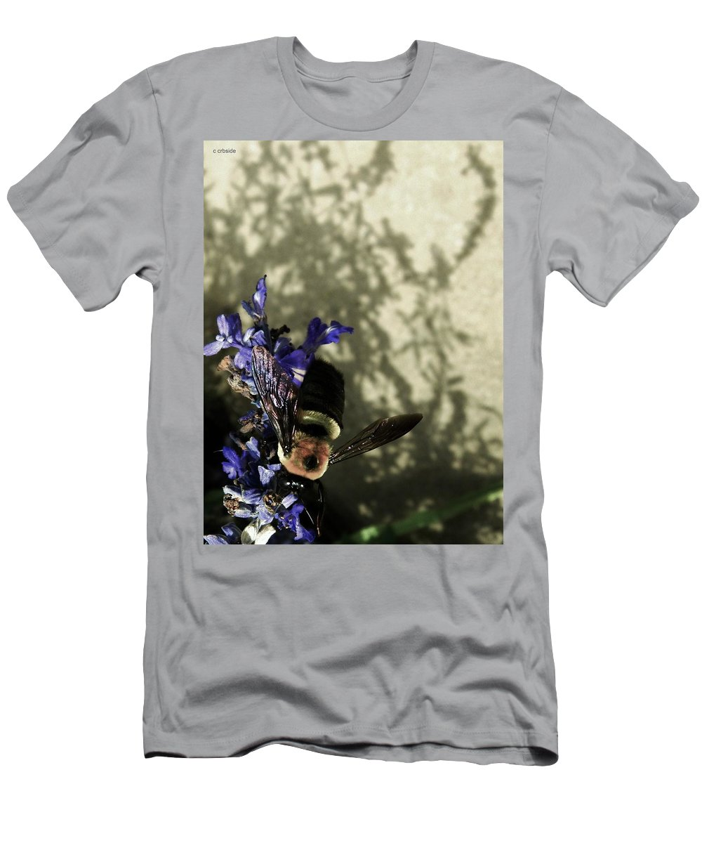 Bee Men's T-Shirt (Athletic Fit) featuring the photograph The Buzz by Chris Berry