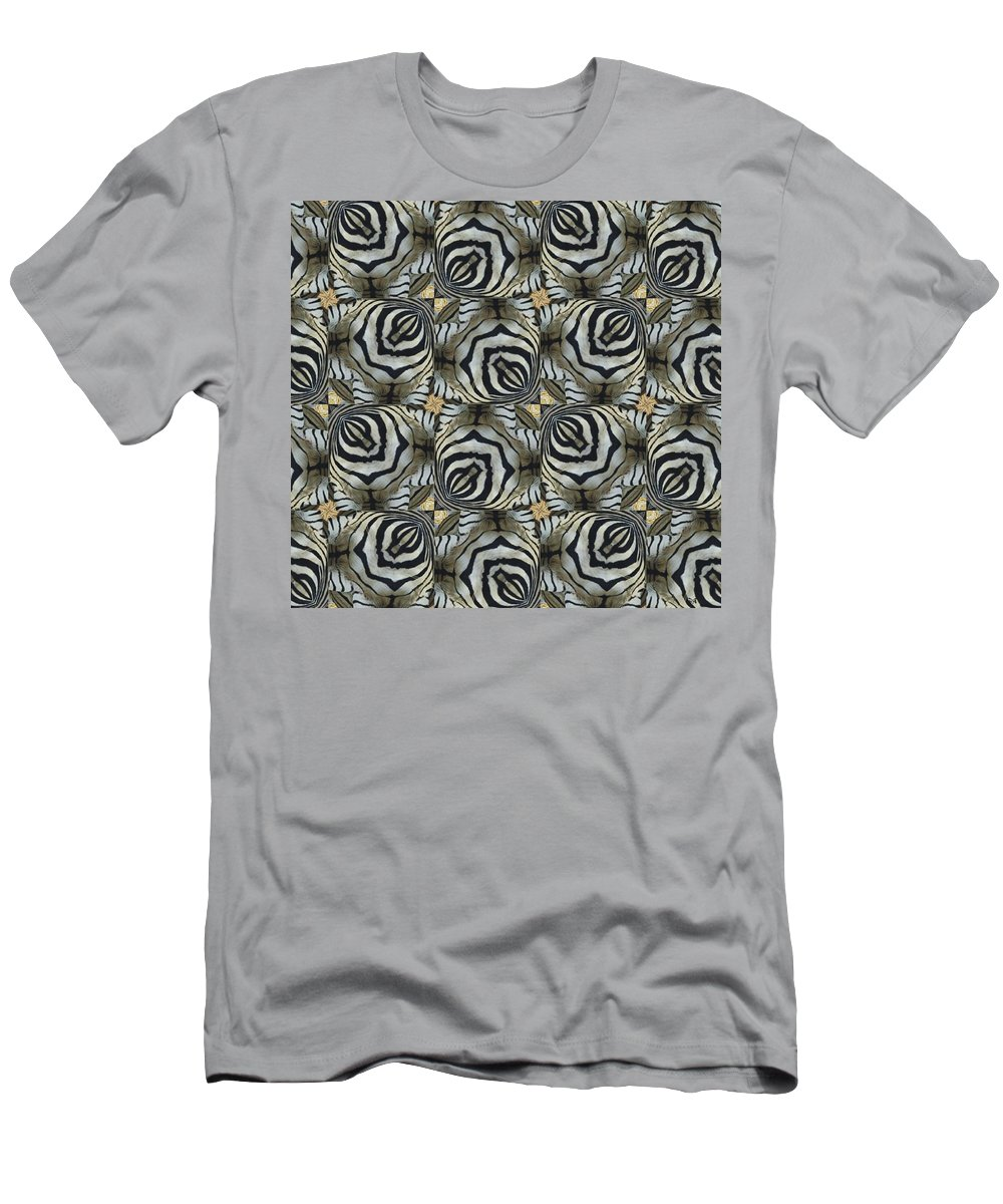 Magissimo Men's T-Shirt (Athletic Fit) featuring the digital art The Owl And The Zebra by Maria Watt