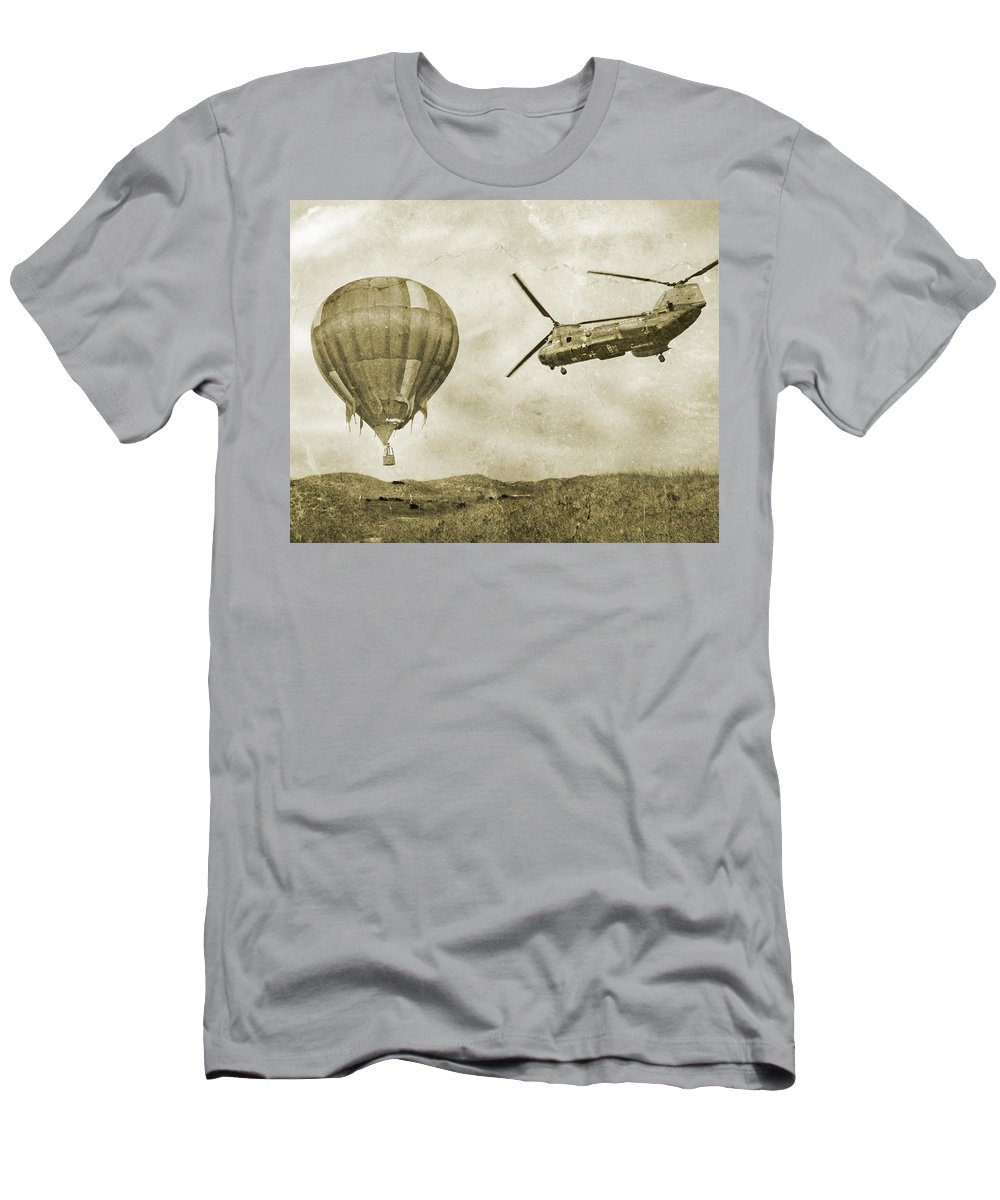 Tortoise Men's T-Shirt (Athletic Fit) featuring the digital art Tortoise And The Hare by Betsy Knapp