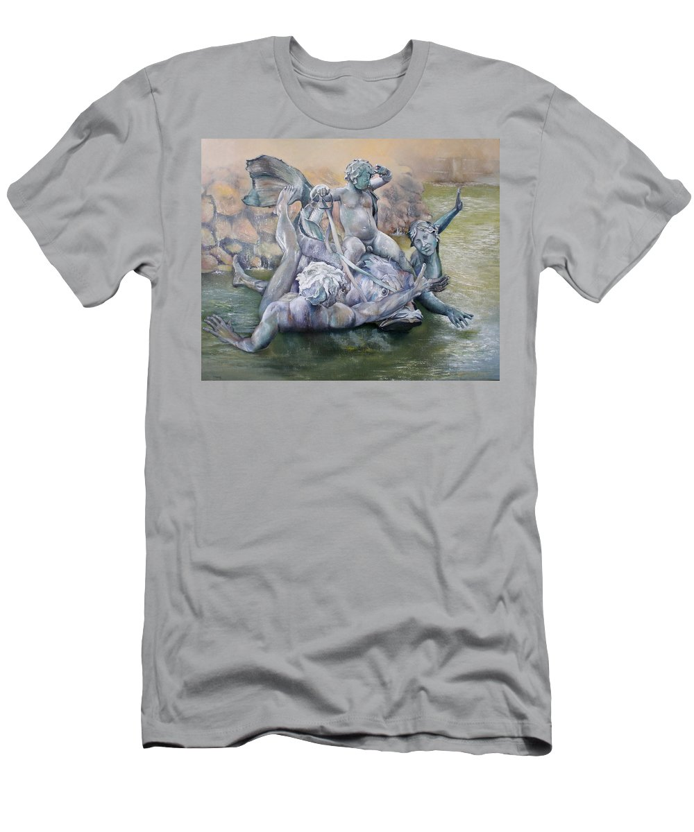 Figure T-Shirt featuring the painting Triunfo de la concordia by Tomas Castano