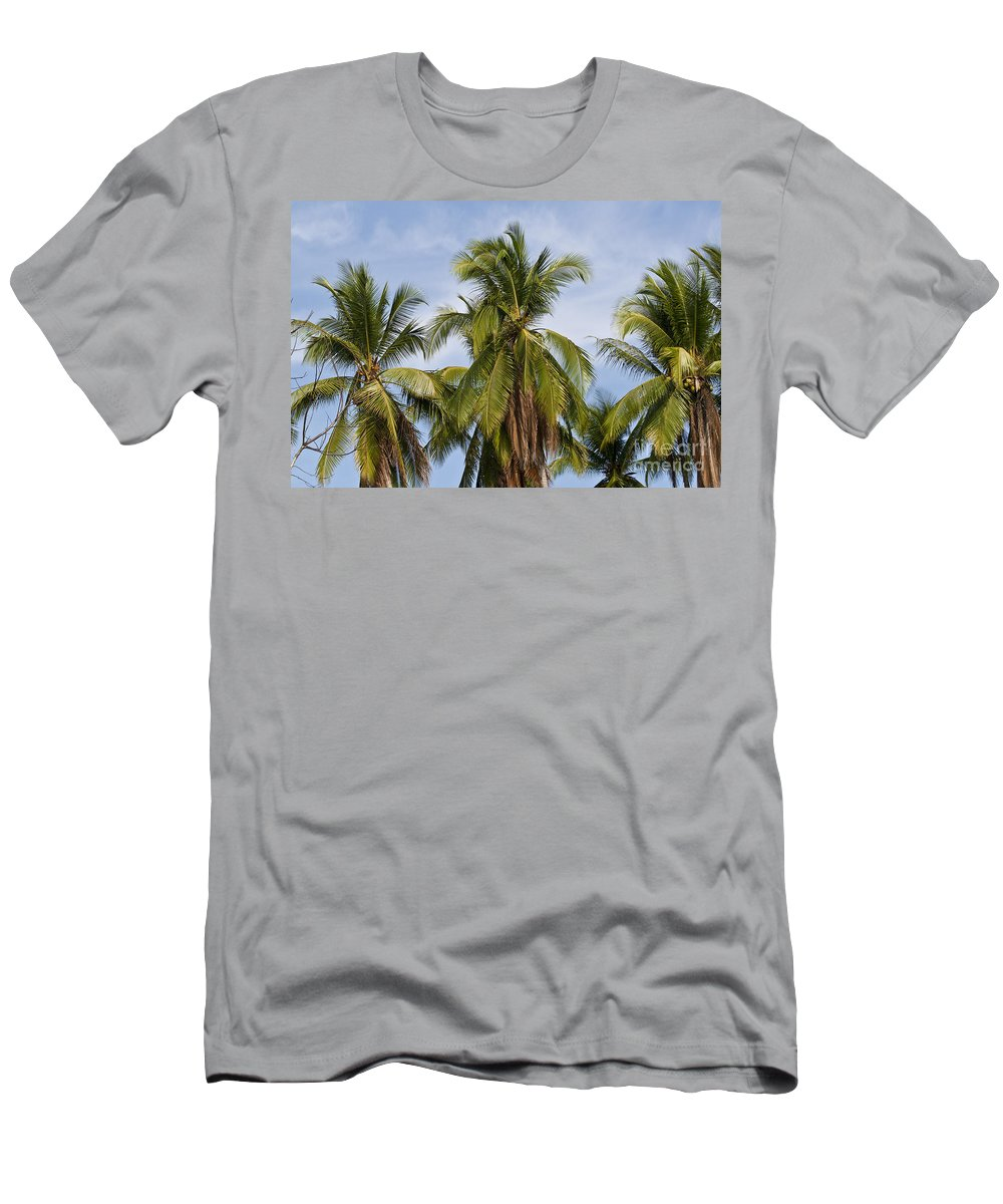Nature Men's T-Shirt (Athletic Fit) featuring the photograph Tropical Cliche by Heiko Koehrer-Wagner