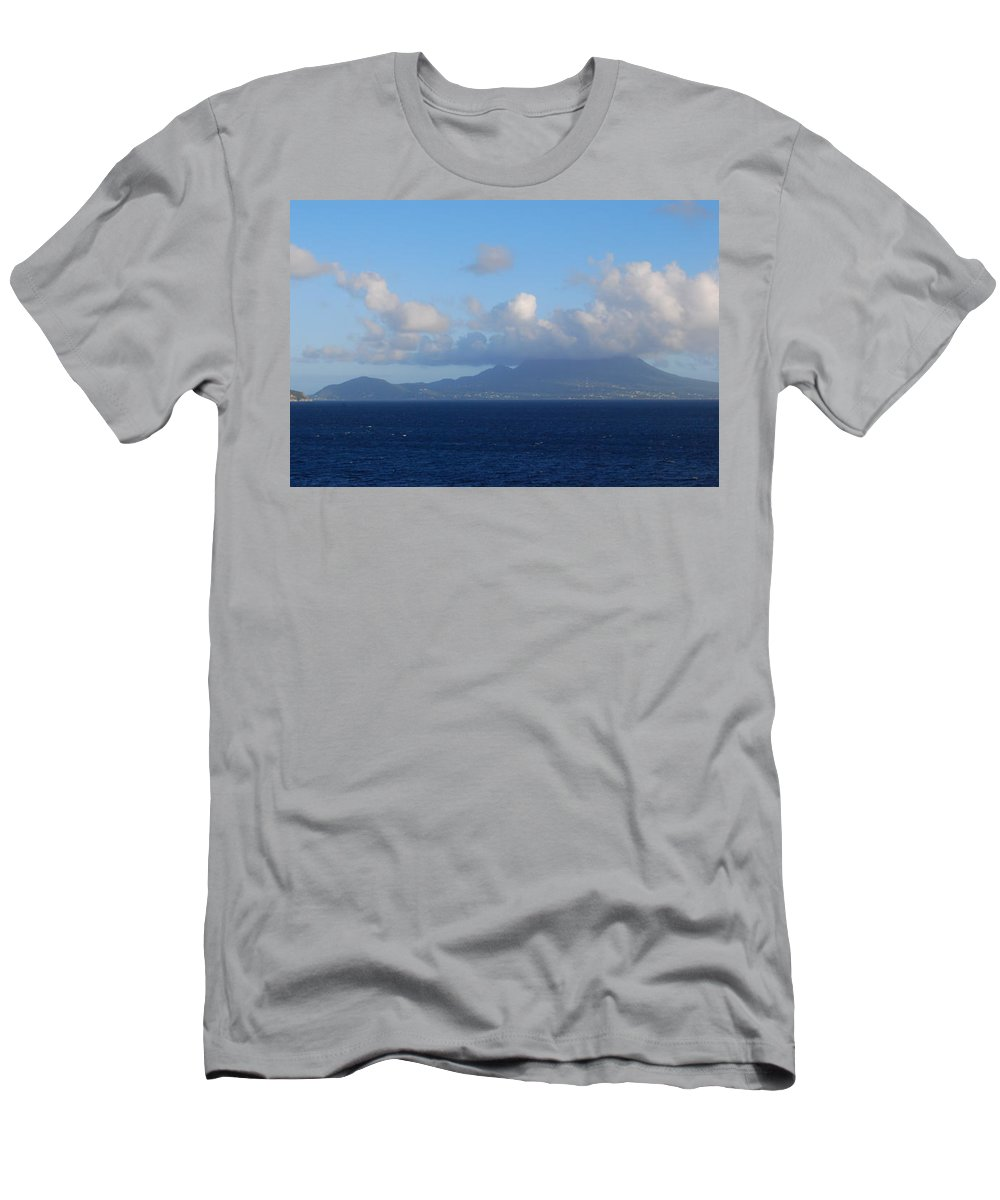 Tropical Island Men's T-Shirt (Athletic Fit) featuring the photograph Tropical Mist by Gary Wonning