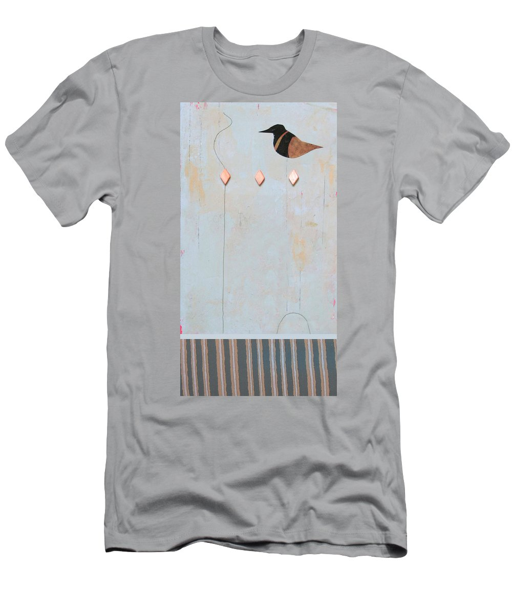 Conceptual Men's T-Shirt (Athletic Fit) featuring the painting Variations A Lark by Kathleen Grace