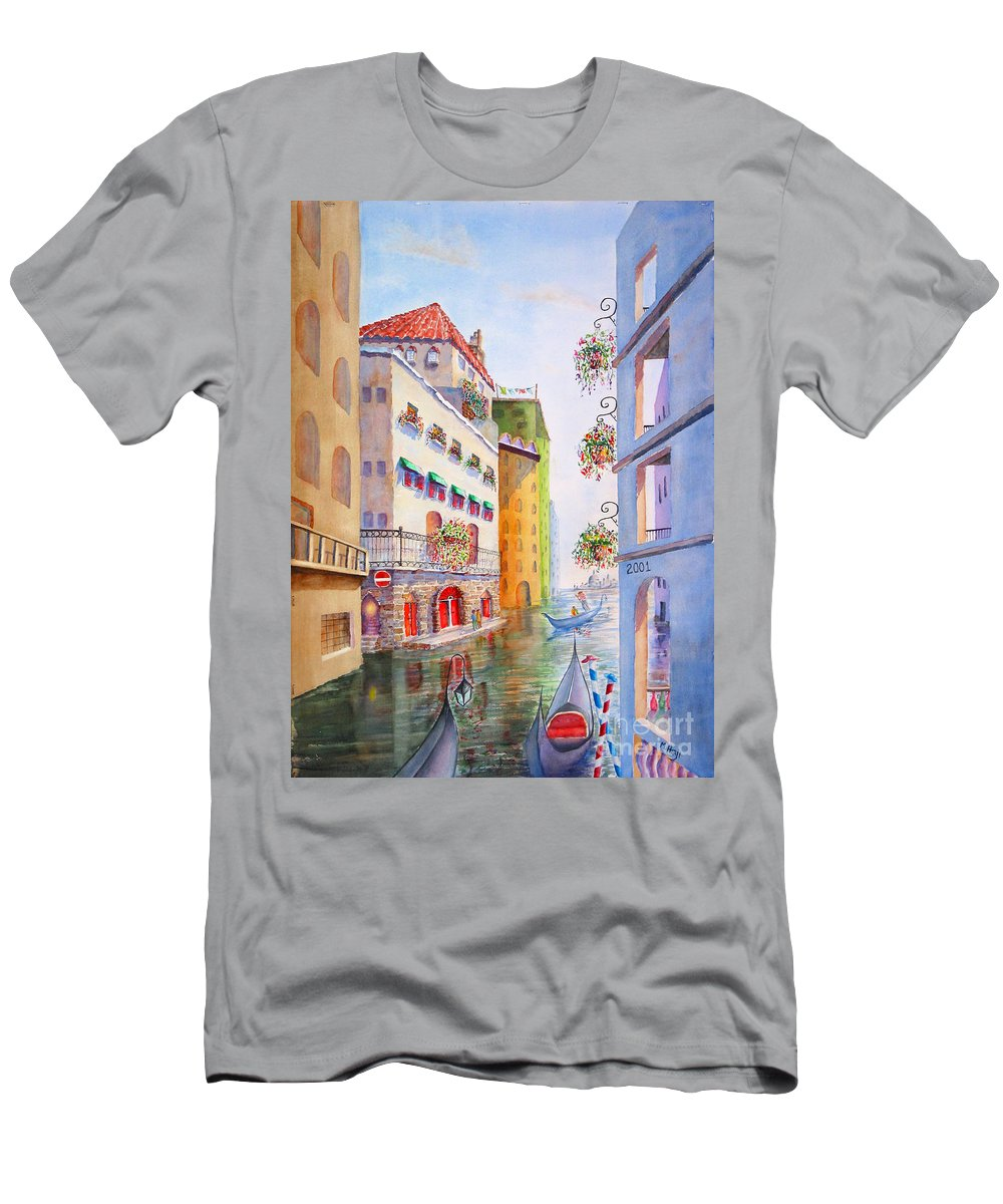 Men's T-Shirt (Athletic Fit) featuring the painting Venice by Mohamed Hirji