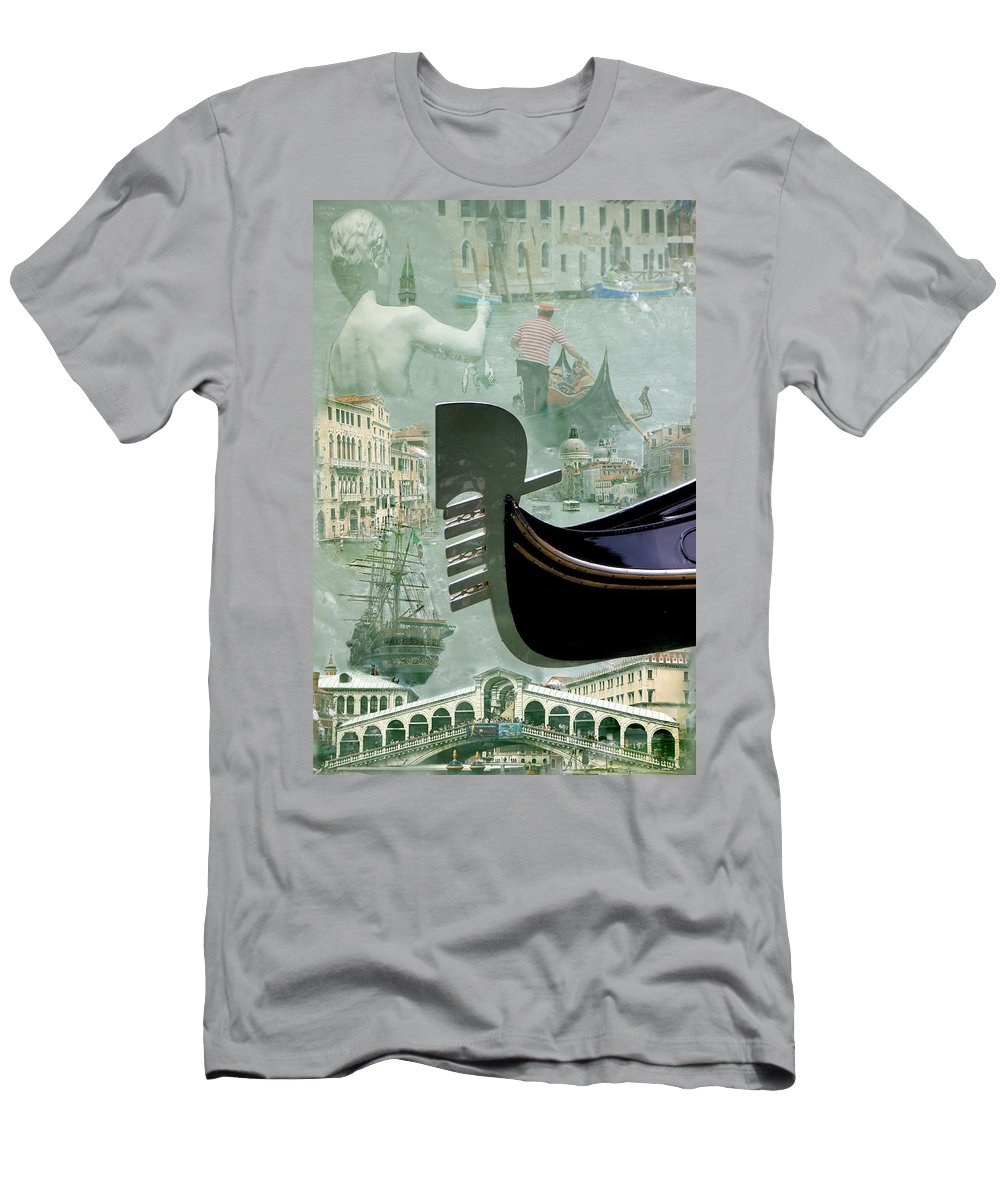 Venice Men's T-Shirt (Athletic Fit) featuring the photograph Venice Montage by Andrew Fare