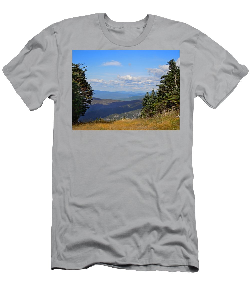 Cannon_mountain Men's T-Shirt (Athletic Fit) featuring the photograph View From Top Of Cannon Mountain by Nancy Griswold