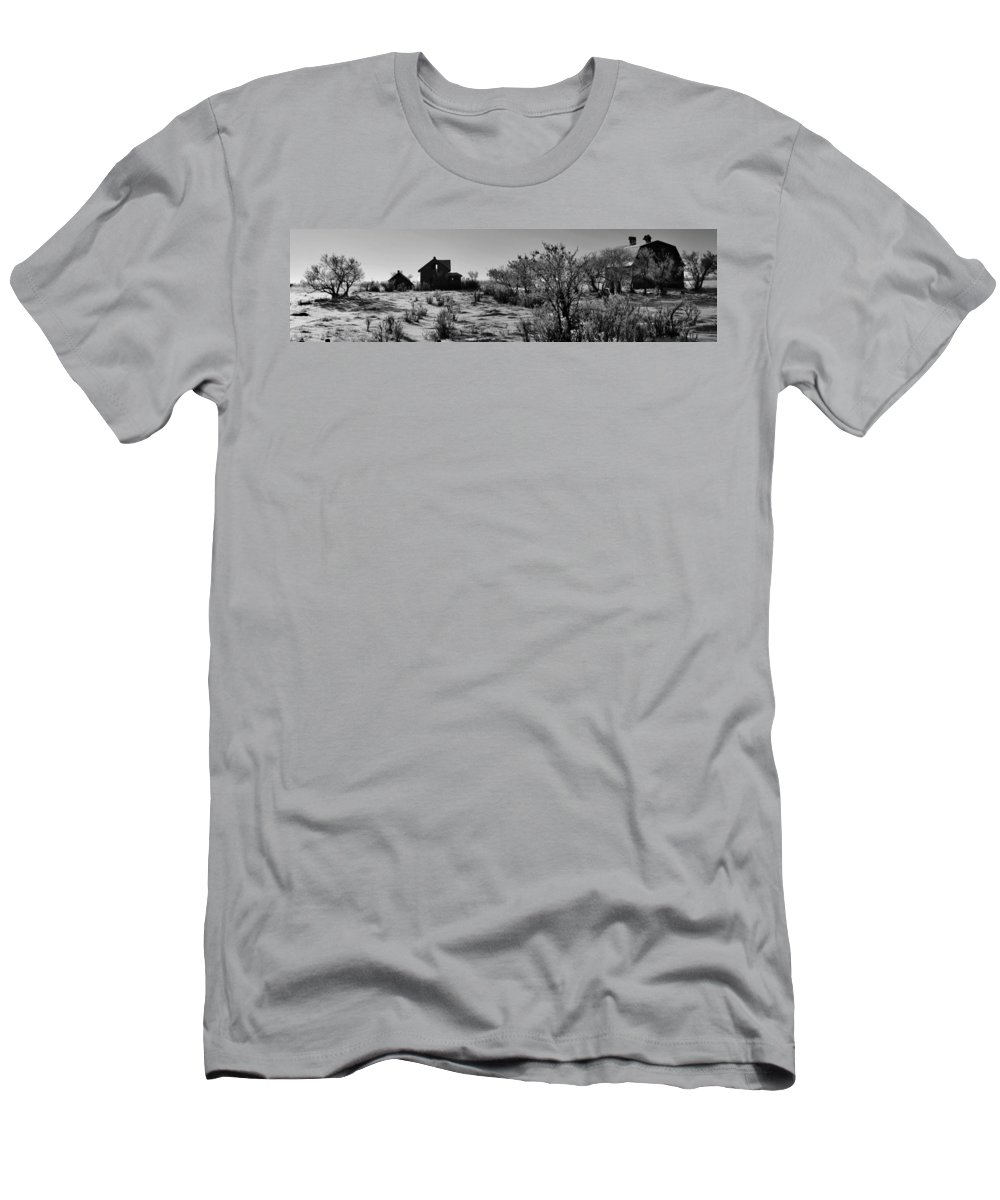 Black And White Photography Men's T-Shirt (Athletic Fit) featuring the photograph Village View by The Artist Project
