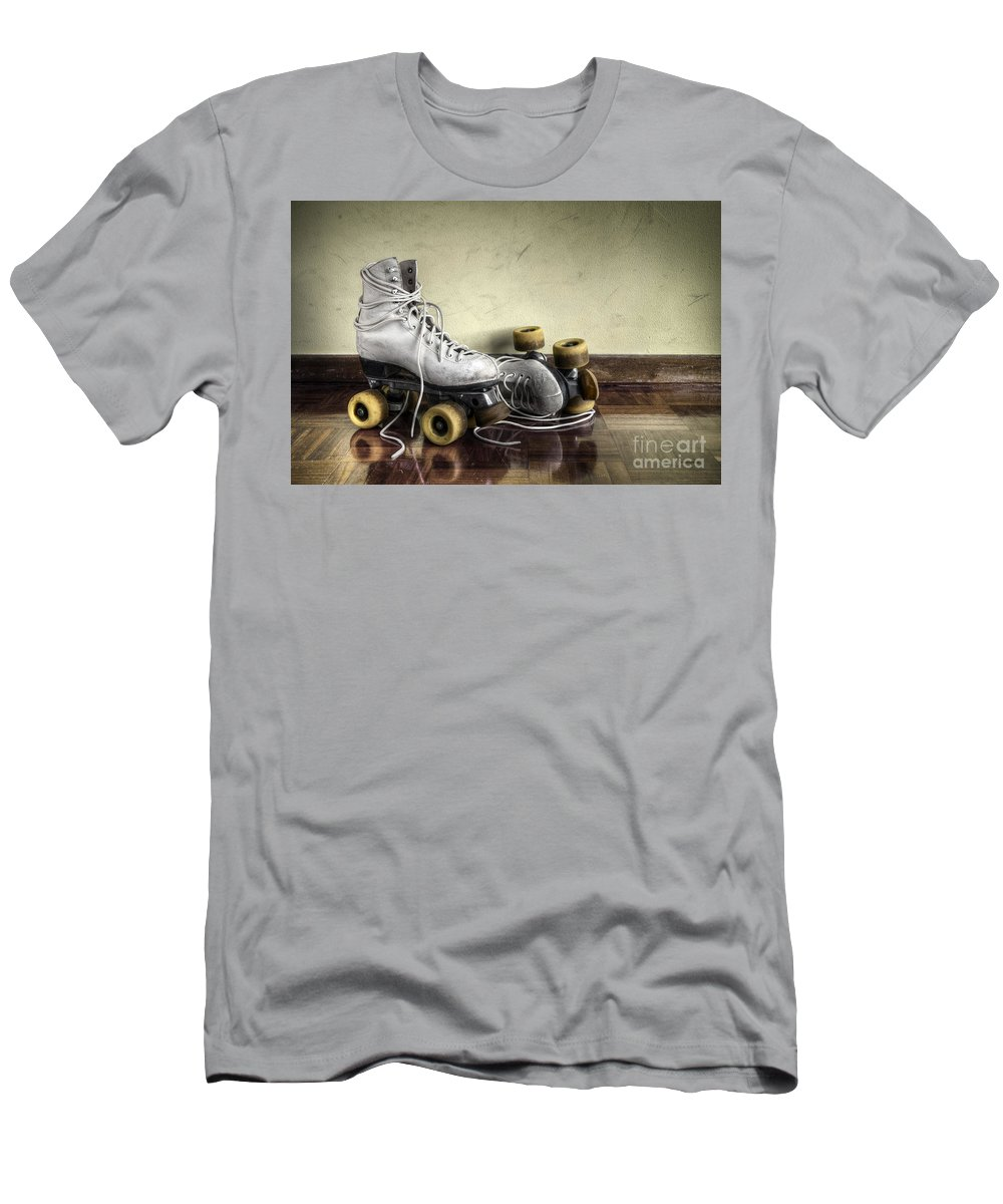 Active Men's T-Shirt (Athletic Fit) featuring the photograph Vintage Roller Skates by Carlos Caetano