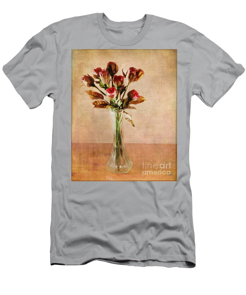Roses Men's T-Shirt (Athletic Fit) featuring the photograph Vintage Roses by Judi Bagwell