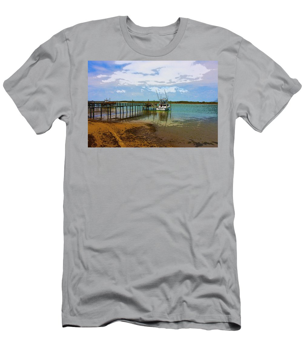 Boat Men's T-Shirt (Athletic Fit) featuring the digital art Waiting For You by Betsy Knapp