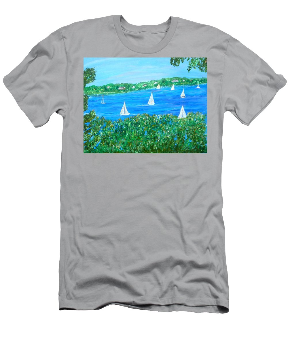 Northern Scene Men's T-Shirt (Athletic Fit) featuring the painting Wake Up Maggie by Sara Credito