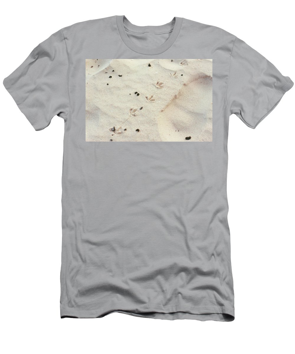 Sand Men's T-Shirt (Athletic Fit) featuring the photograph Walking Away 03 by Guy Whiteley