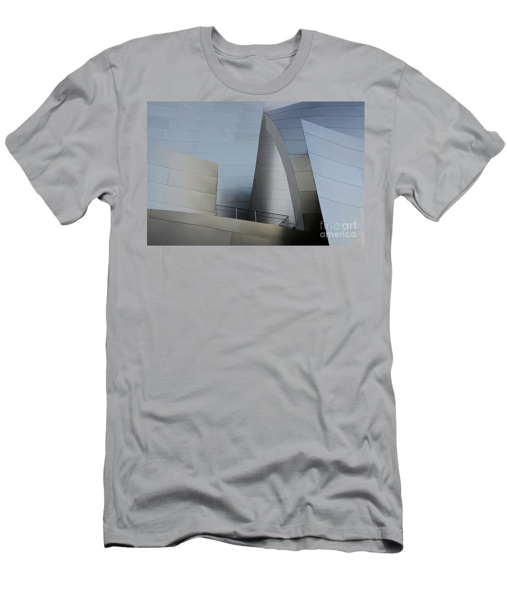 Disney Men's T-Shirt (Athletic Fit) featuring the photograph Walt Disney Concert Hall 2 by Bob Christopher