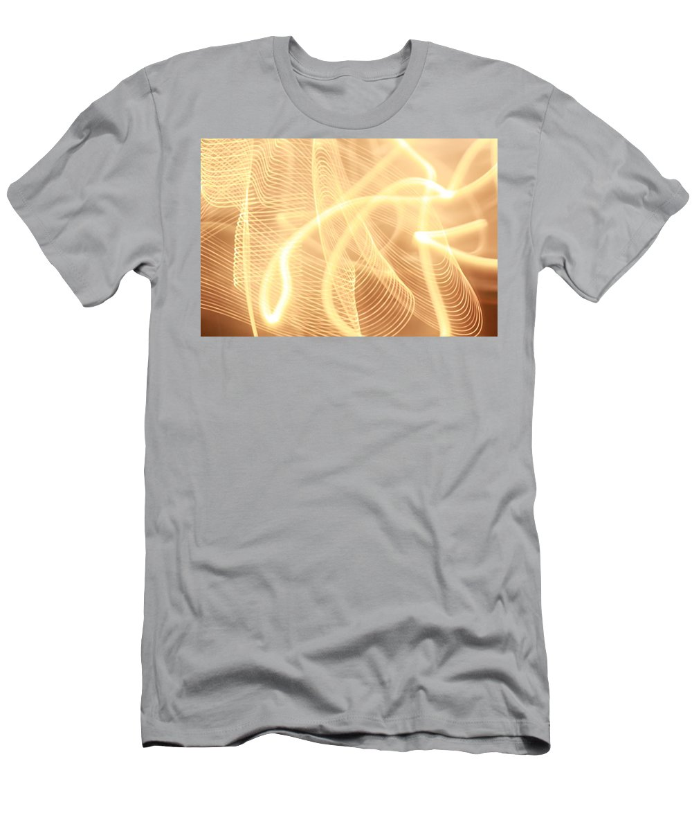 Light Men's T-Shirt (Athletic Fit) featuring the photograph Warm Strings Of Glowing Light by Mike M Burke
