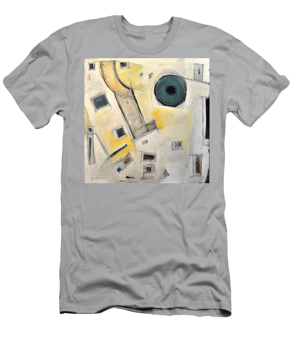 Abstract Men's T-Shirt (Athletic Fit) featuring the painting Whistler by Tim Nyberg