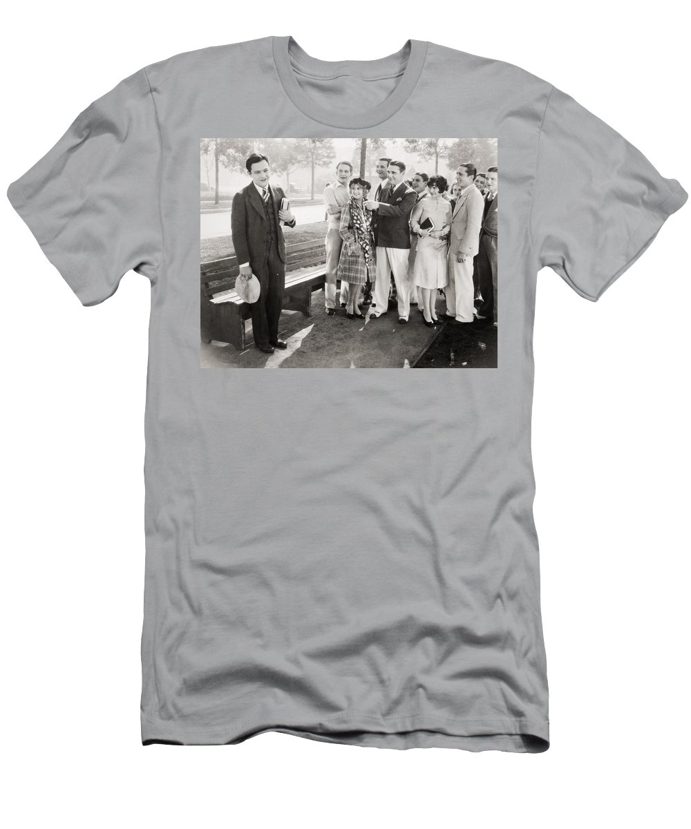 -groups & Mixed- Men's T-Shirt (Athletic Fit) featuring the photograph White Flannels, 1927 by Granger