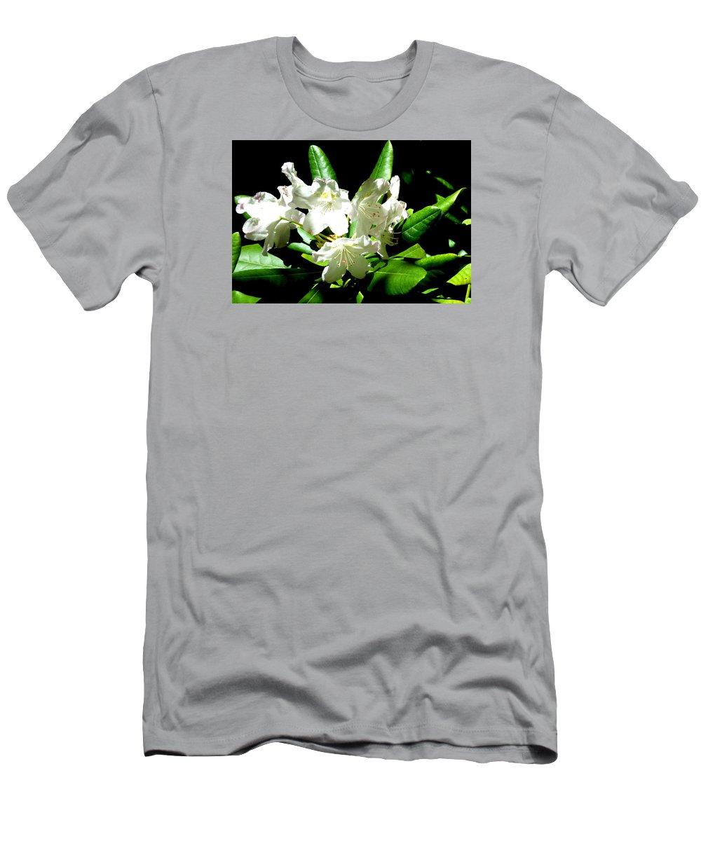 Landscapes Men's T-Shirt (Athletic Fit) featuring the photograph White Flowers by April Patterson