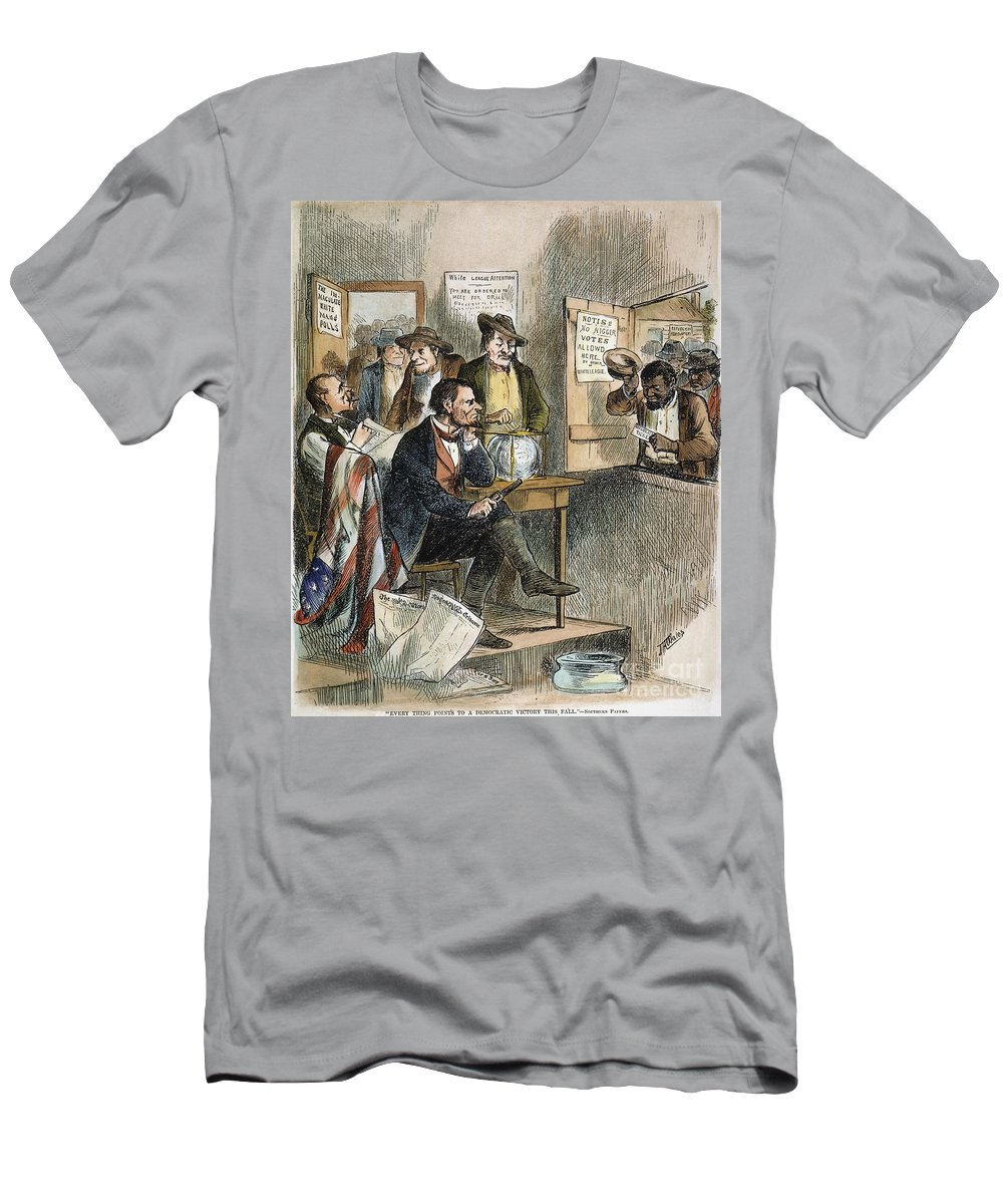 1874 Men's T-Shirt (Athletic Fit) featuring the photograph White League, 1874 by Granger
