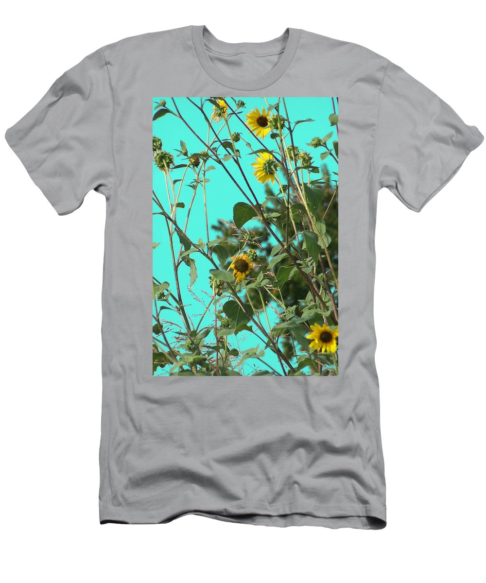 Digital Photos Of Flowers Men's T-Shirt (Athletic Fit) featuring the photograph Wild Flowers by Christy Leigh
