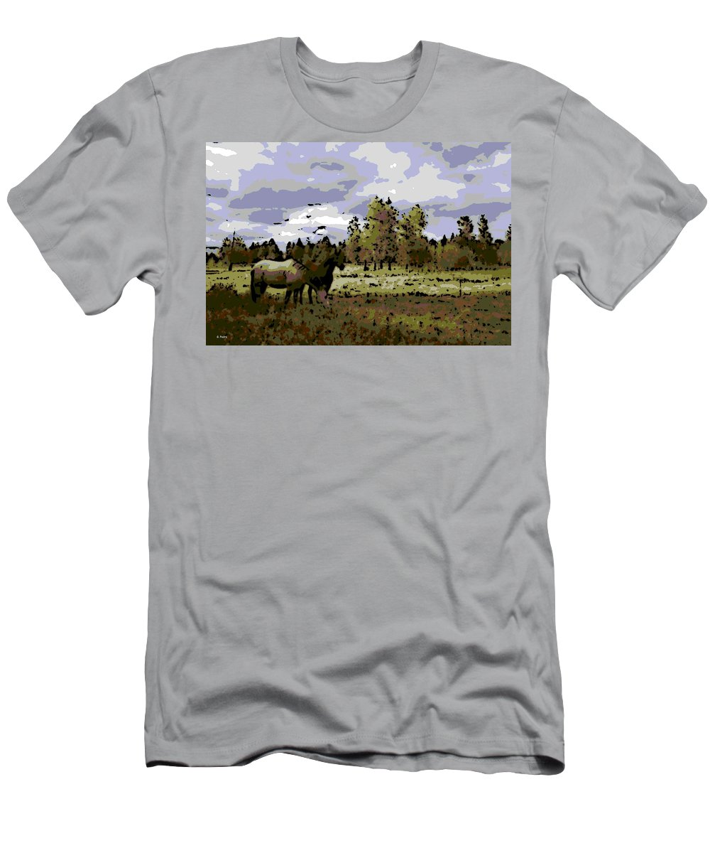 Wild Horses Men's T-Shirt (Athletic Fit) featuring the photograph Wild Horses by George Pedro