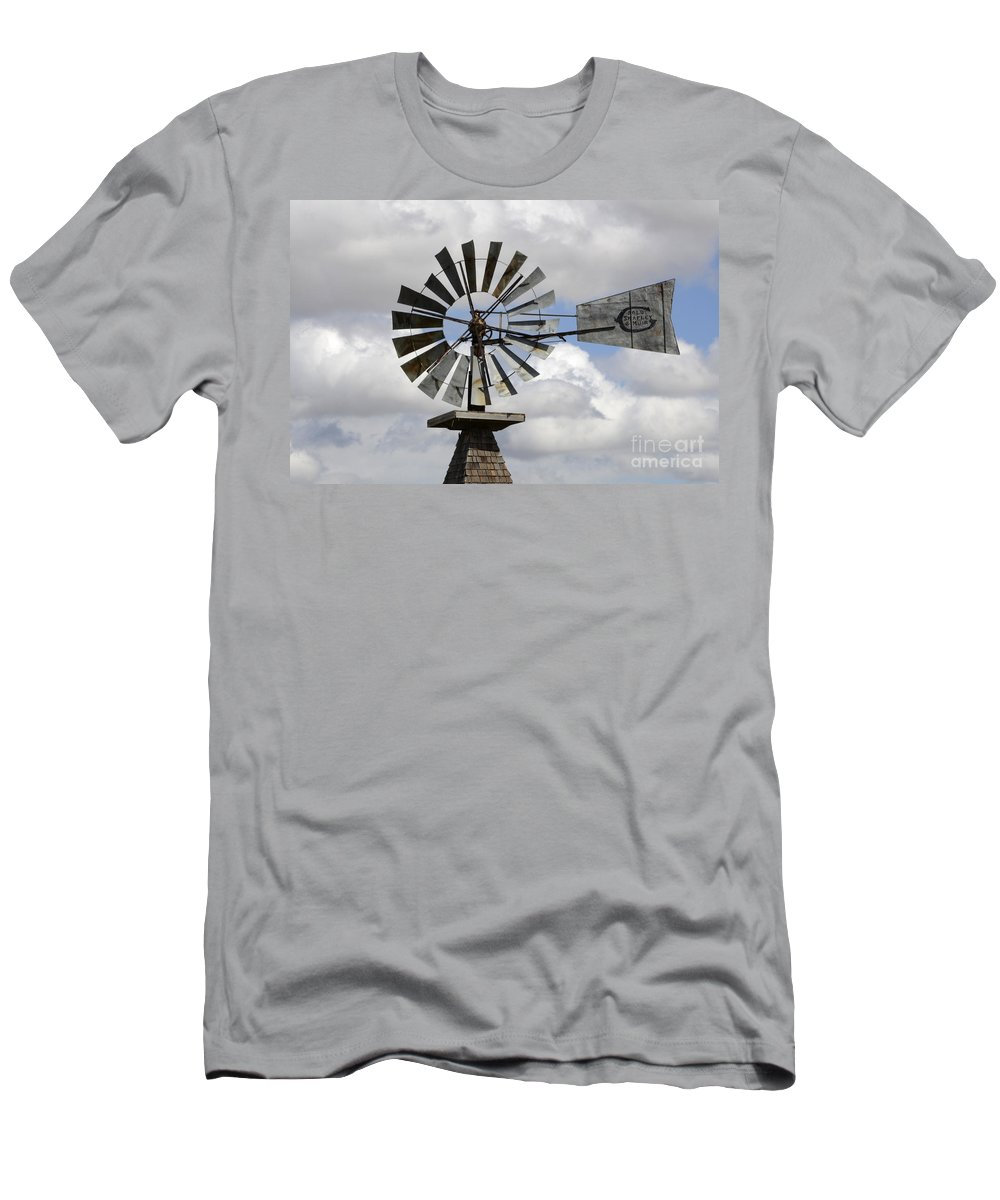 Windmill Men's T-Shirt (Athletic Fit) featuring the photograph Windmill 6 by Bob Christopher