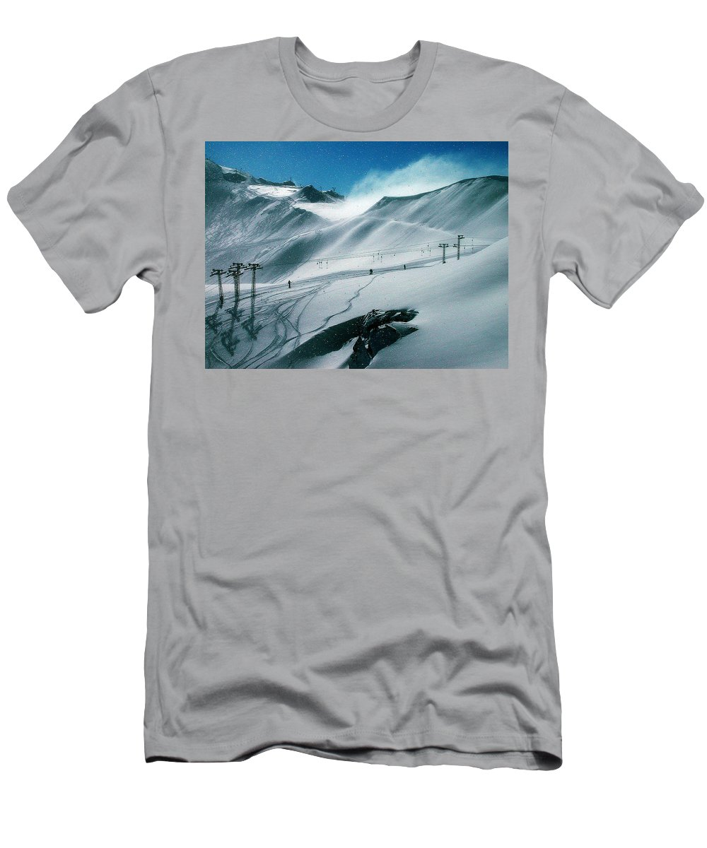 Colette Men's T-Shirt (Athletic Fit) featuring the photograph Winter In Austria by Colette V Hera Guggenheim