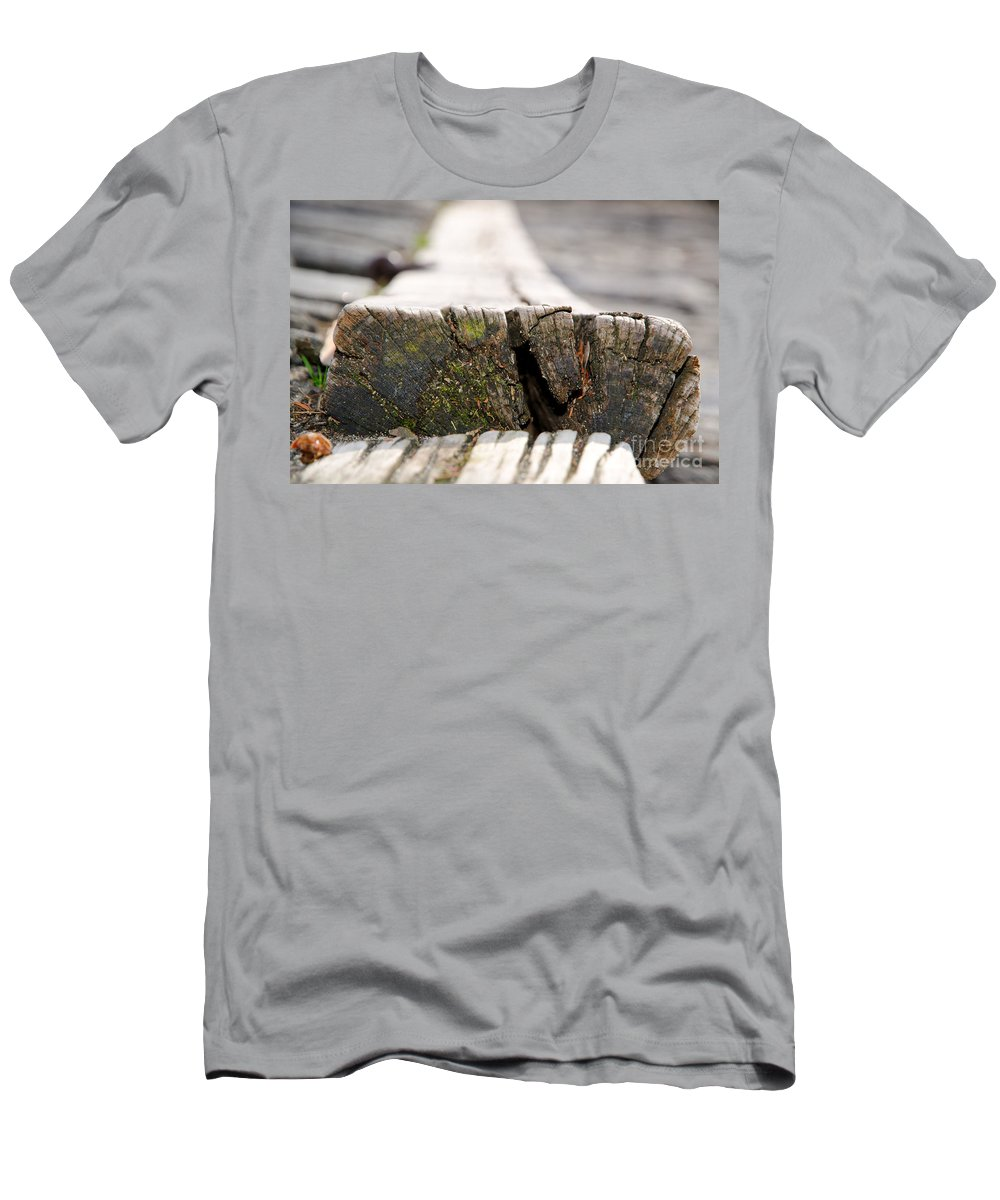 Wood Men's T-Shirt (Athletic Fit) featuring the photograph Wooden Board by Mats Silvan