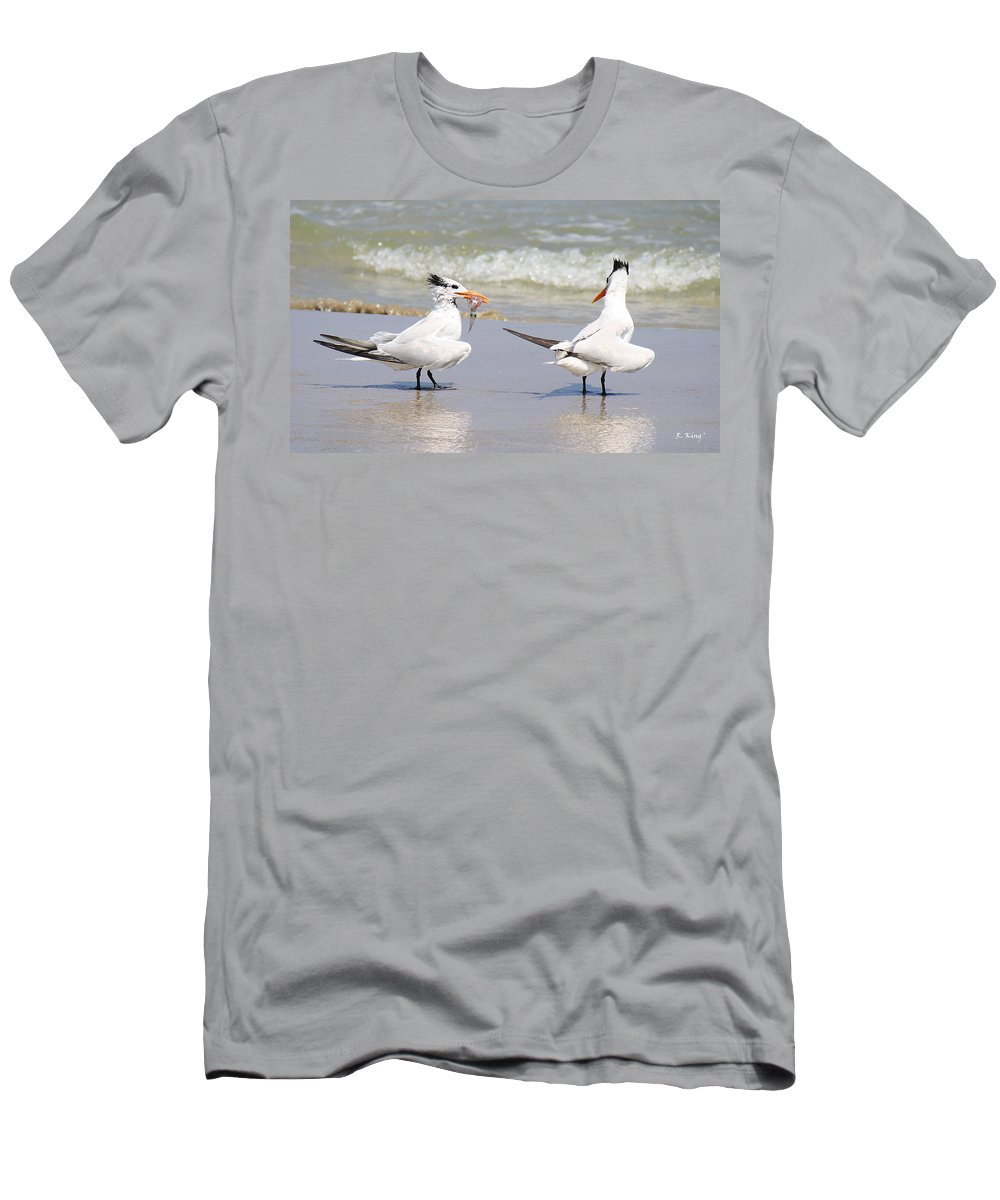Roena King Men's T-Shirt (Athletic Fit) featuring the photograph Ya Dont Dive Ya Dont Eat by Roena King