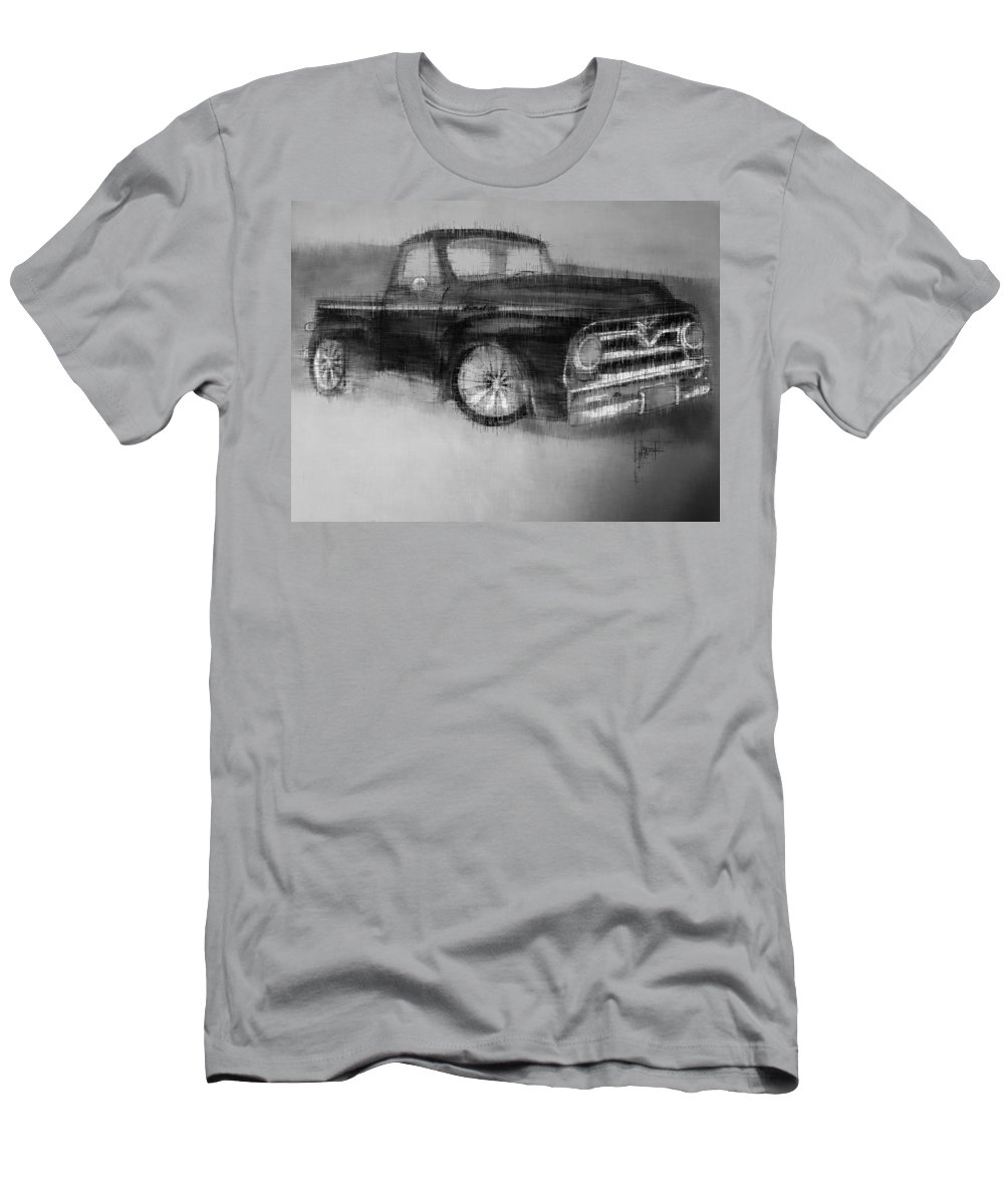 Men's T-Shirt (Athletic Fit) featuring the mixed media Ford Pick Up by Kevin Burden