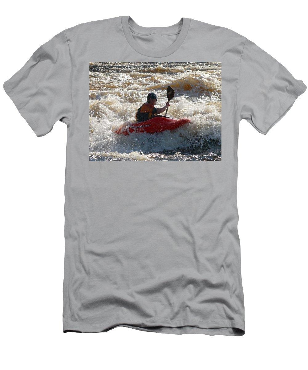 Lehtokukka Men's T-Shirt (Athletic Fit) featuring the photograph Kayak 3 by Jouko Lehto