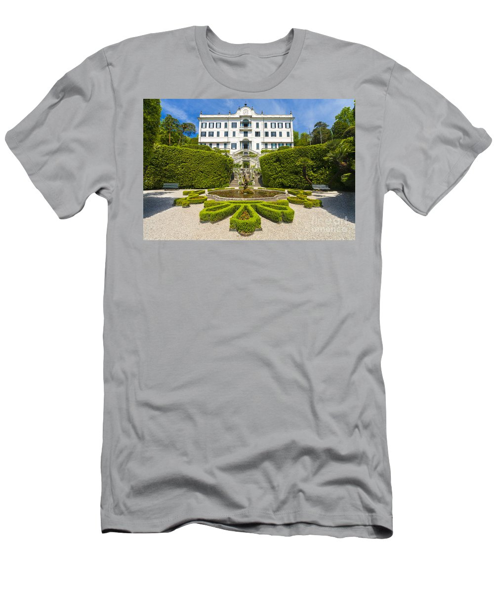 Europe Men's T-Shirt (Athletic Fit) featuring the photograph Lake Como,villa Carlotta, Italy by Marco Arduino