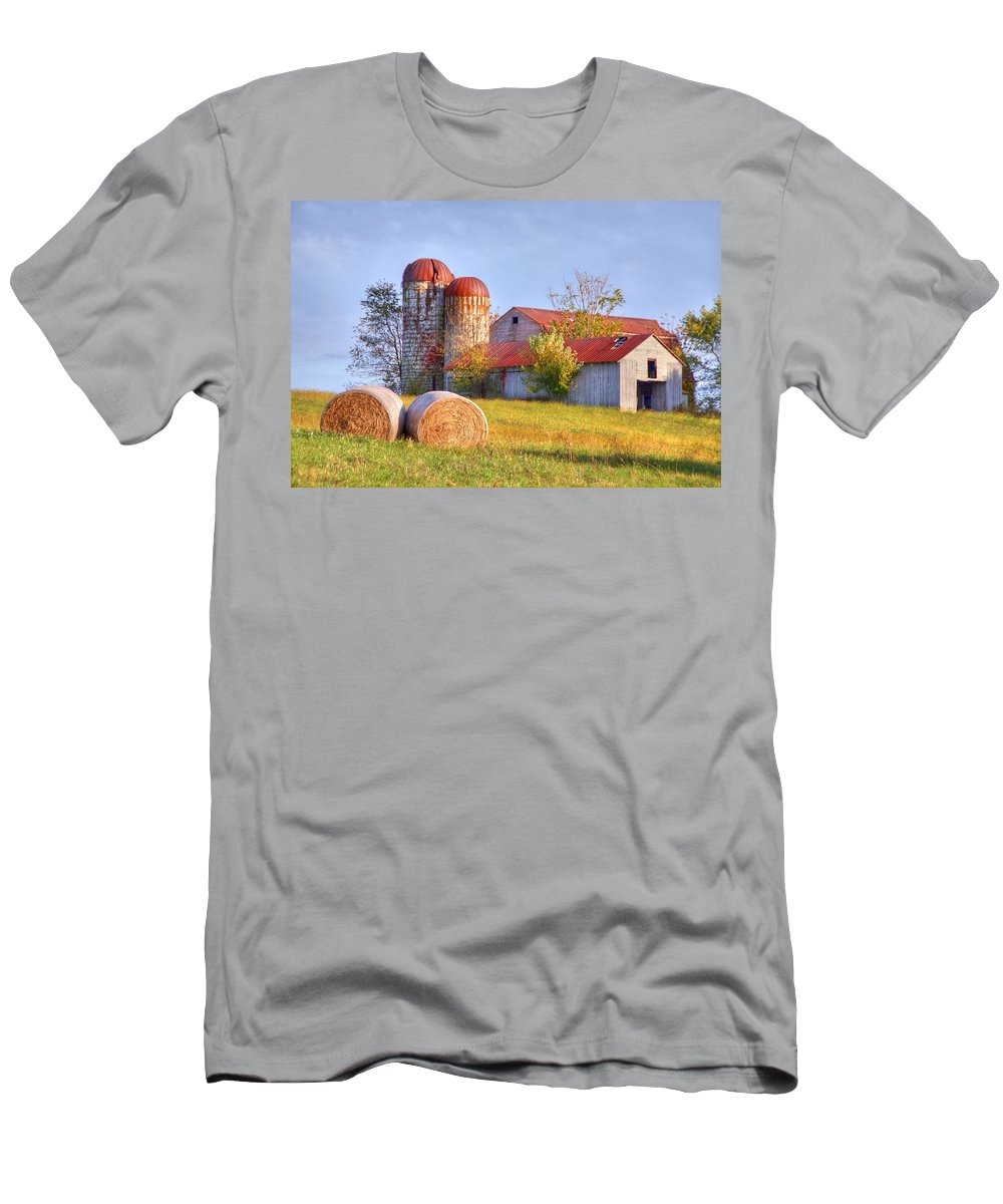 Barn Men's T-Shirt (Athletic Fit) featuring the photograph Two by Mitch Cat