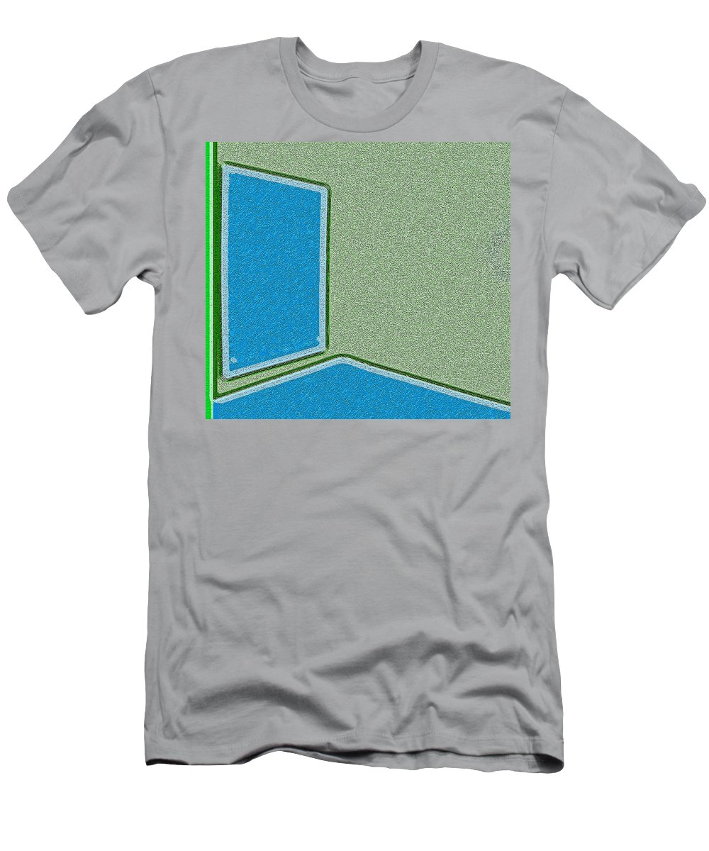 Abstract Men's T-Shirt (Athletic Fit) featuring the photograph Window In The Empty Room 2-1 by Lenore Senior