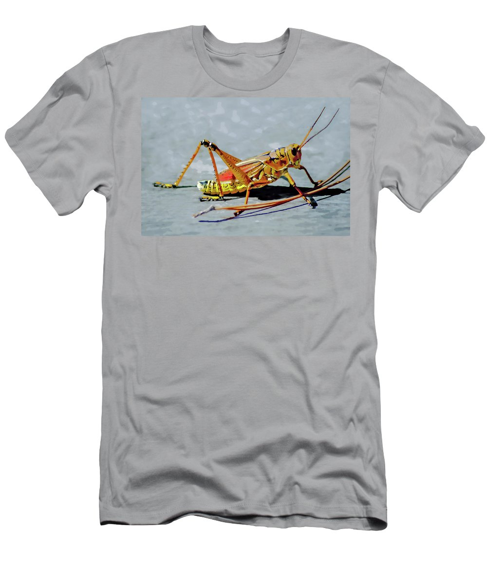Lubber Grasshopper T-Shirt featuring the digital art 15- Lubber Grasshopper by Joseph Keane
