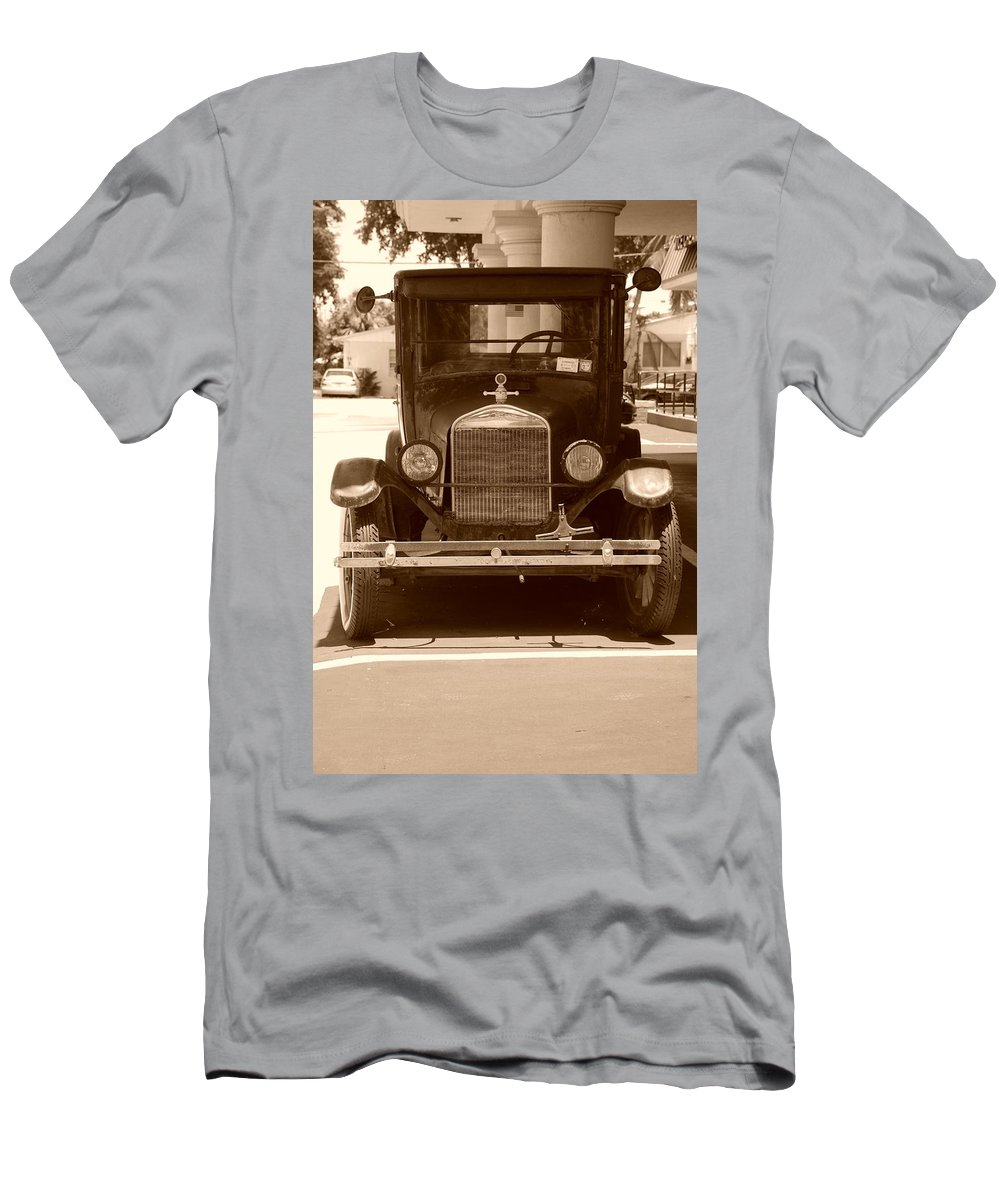 Sepia Men's T-Shirt (Athletic Fit) featuring the photograph 1926 Model T by Rob Hans