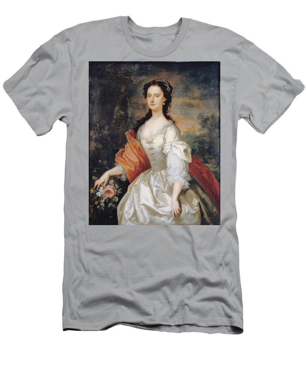 John Vanderbank T-Shirt featuring the painting A Woman in White by John Vanderbank
