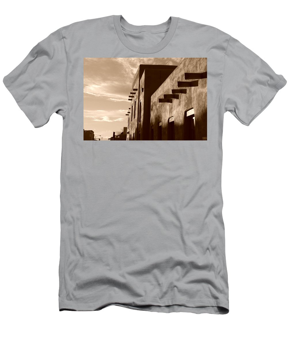 Architecture Men's T-Shirt (Athletic Fit) featuring the photograph Adobe Sunset by Rob Hans