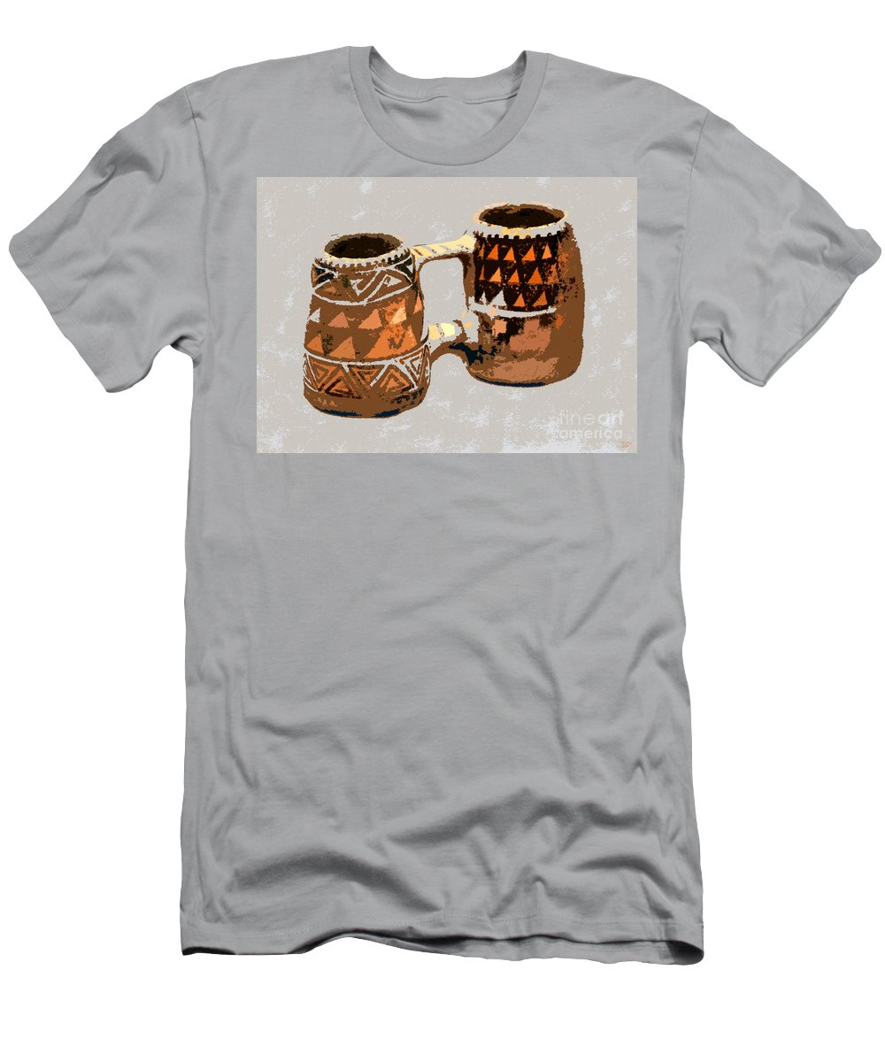 Double Mug Men's T-Shirt (Athletic Fit) featuring the painting Anasazi Double Mug by David Lee Thompson